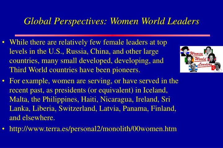 Global Perspectives: Women World Leaders