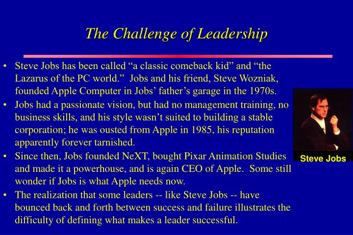 The challenge of leadership
