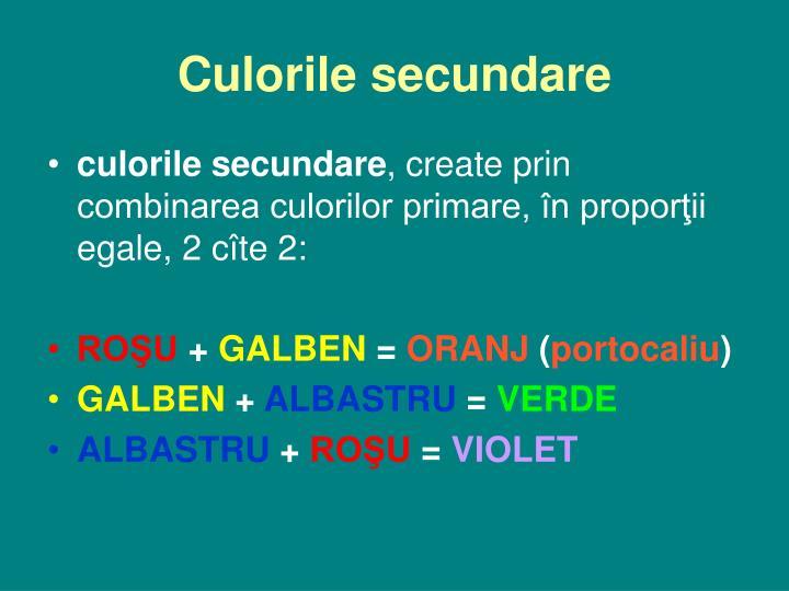 Culorile secundare