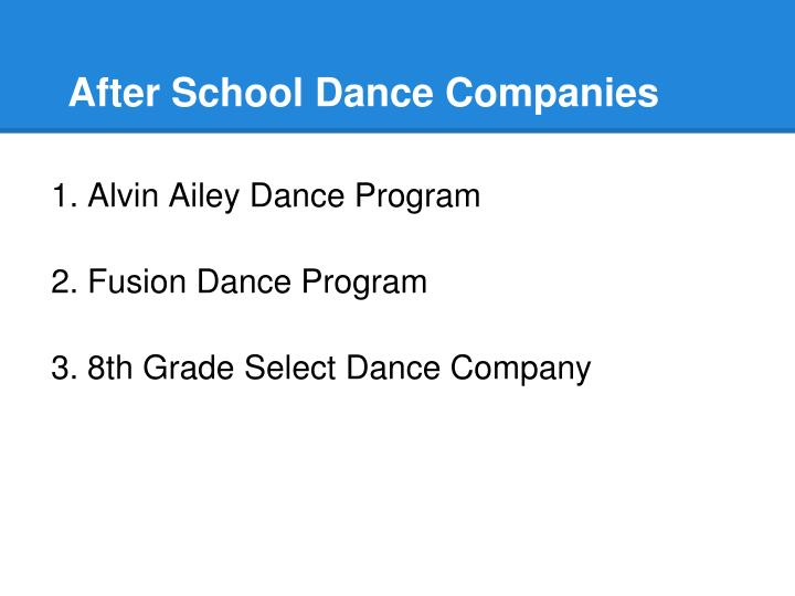 After School Dance Companies