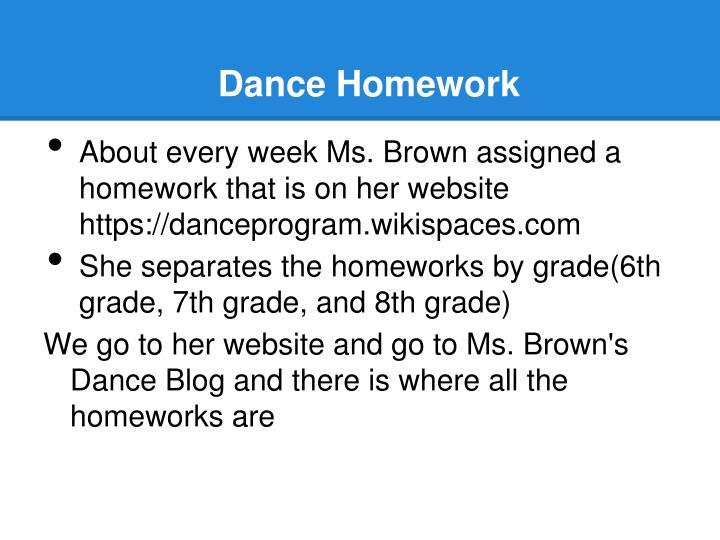 Dance Homework