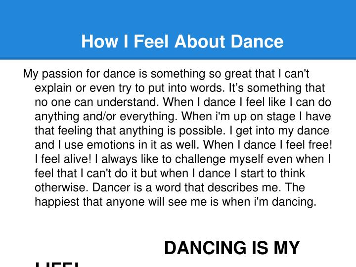 How I Feel About Dance
