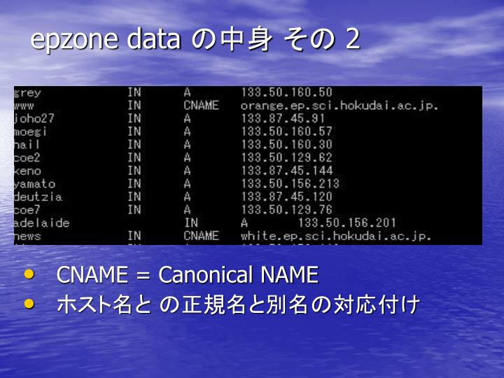 epzone data