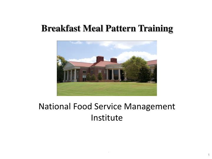 assessment of food and service at