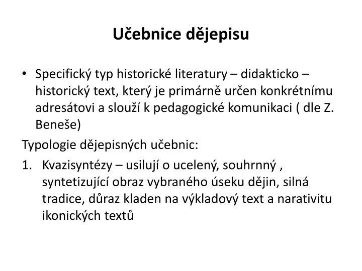 Učebnice dějepisu