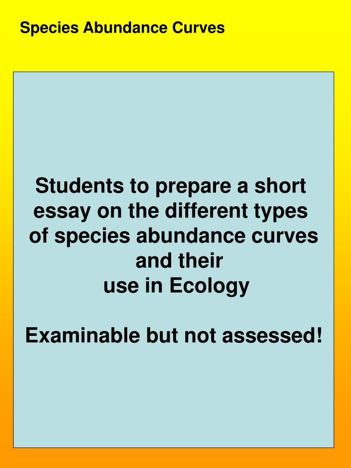 Species Abundance Curves