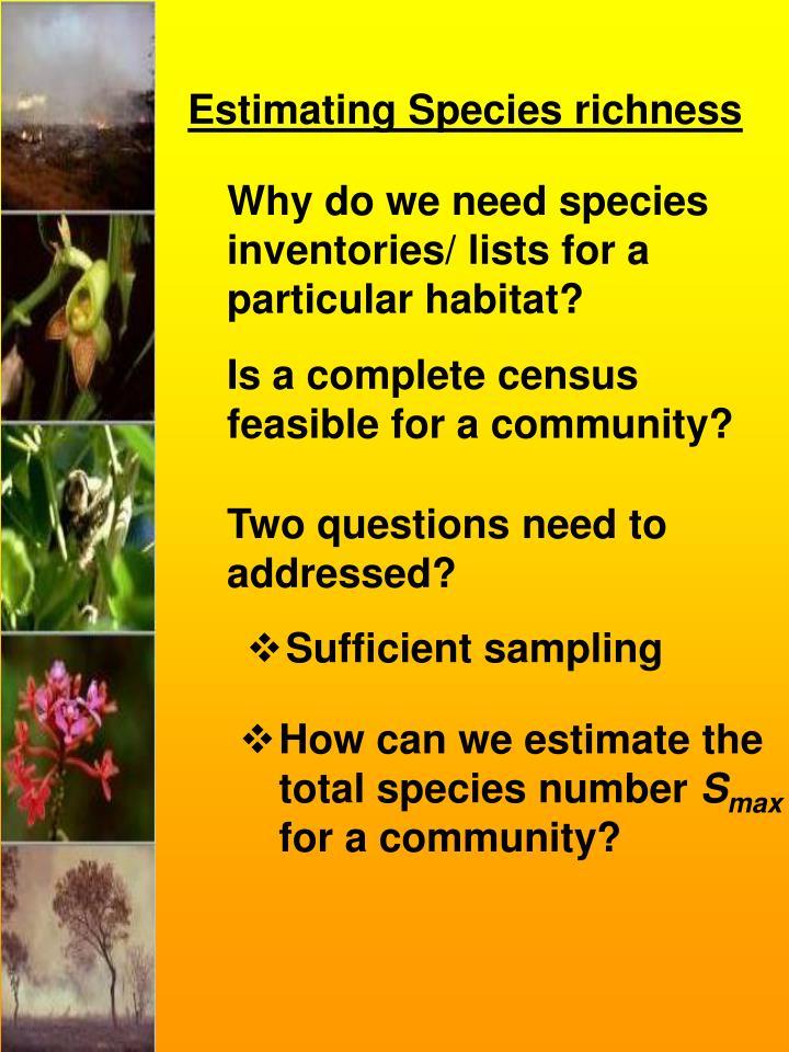 Estimating Species richness