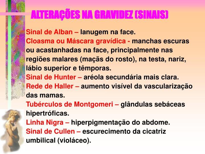 ALTERAES NA GRAVIDEZ (SINAIS)