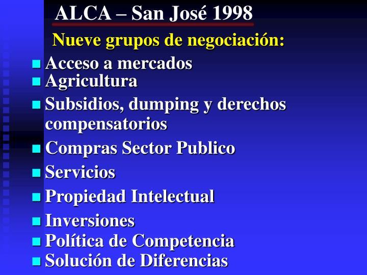ALCA – San José 1998