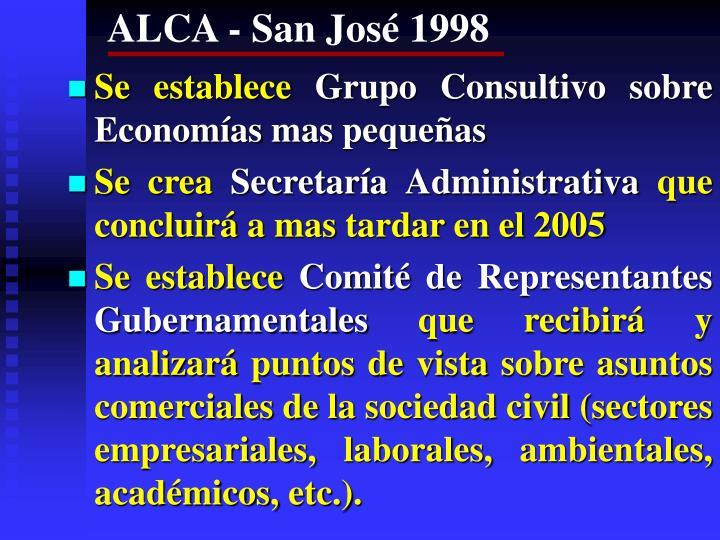 ALCA - San José 1998