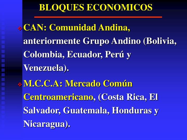 BLOQUES ECONOMICOS