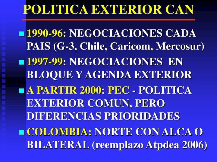 POLITICA EXTERIOR CAN