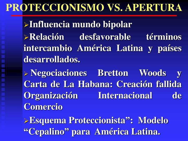 PROTECCIONISMO VS. APERTURA