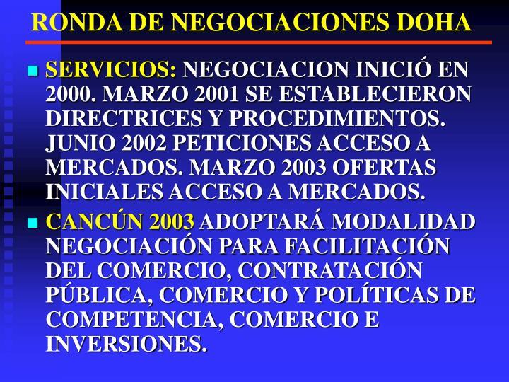 RONDA DE NEGOCIACIONES DOHA