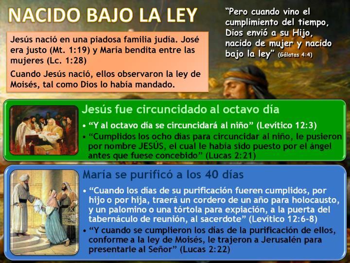NACIDO BAJO LA LEY