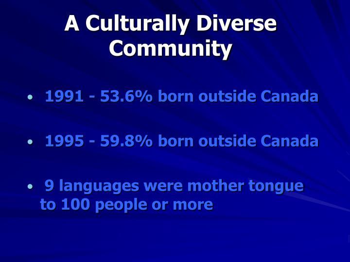 A Culturally Diverse Community