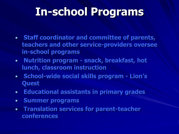 In-school Programs