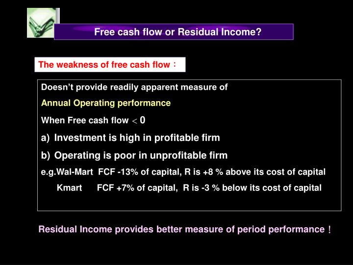 Free cash flow or Residual Income?