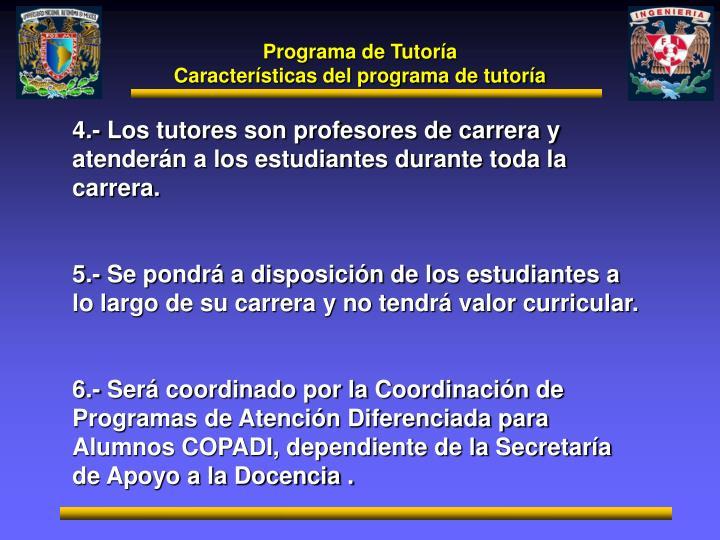 Programa de Tutoría