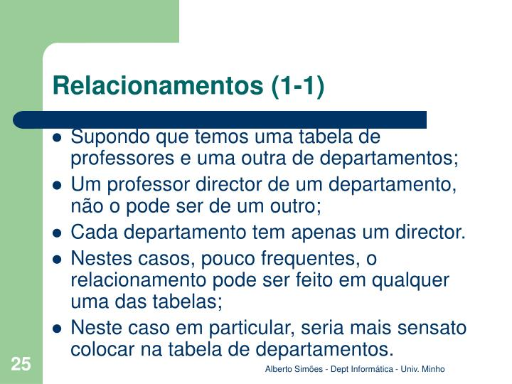 Relacionamentos (1-1)