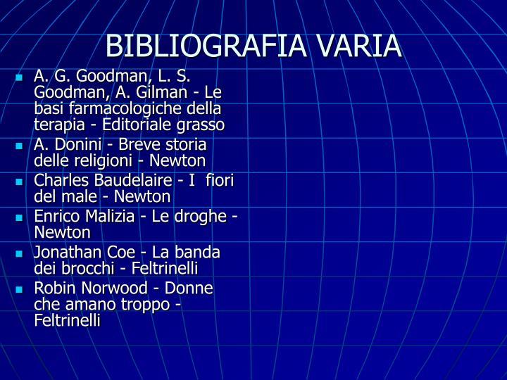 BIBLIOGRAFIA VARIA