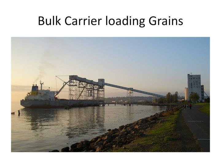 Bulk Carrier loading Grains