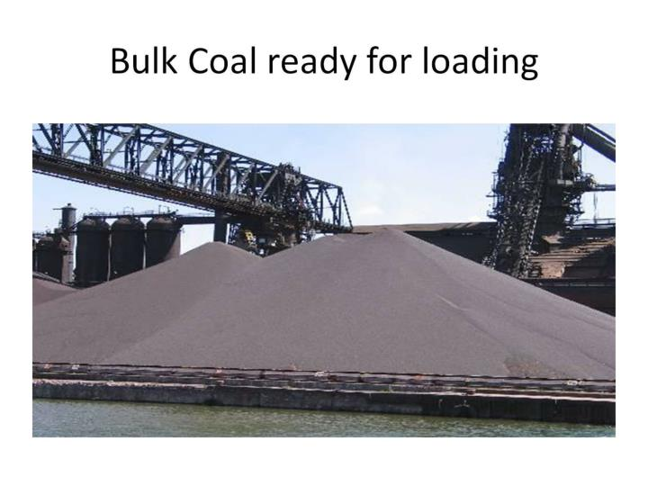 Bulk Coal ready for loading