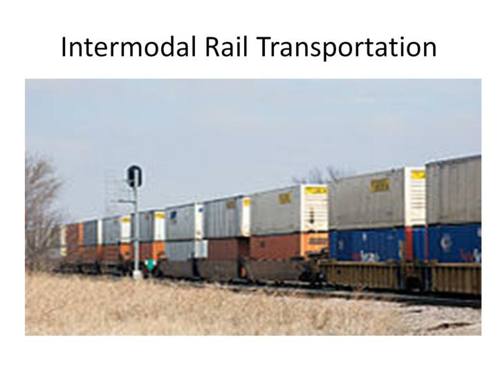 Intermodal Rail Transportation