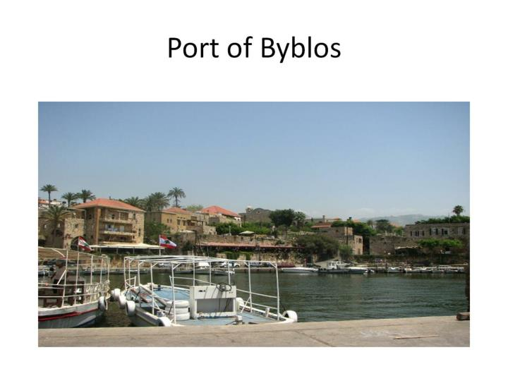 Port of Byblos