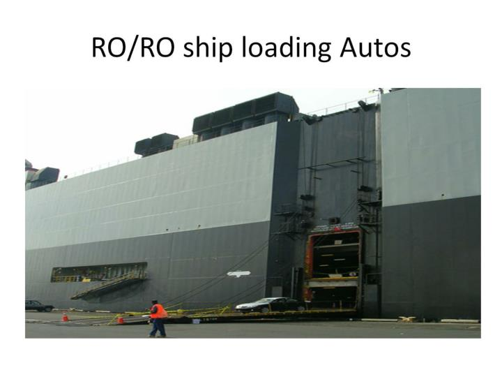 RO/RO ship loading Autos