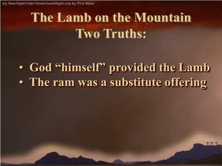 "God ""himself"" provided the Lamb"