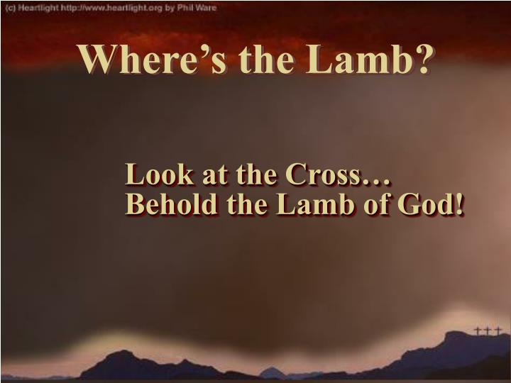 Look at the Cross…   Behold the Lamb of God!