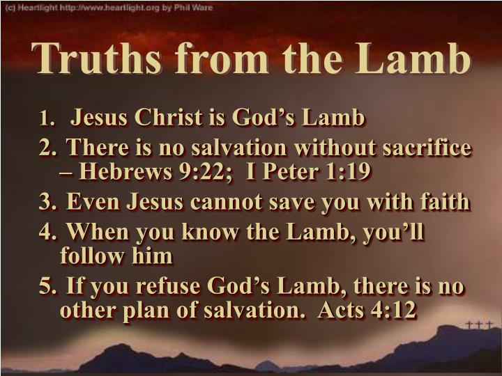 Jesus Christ is God's Lamb