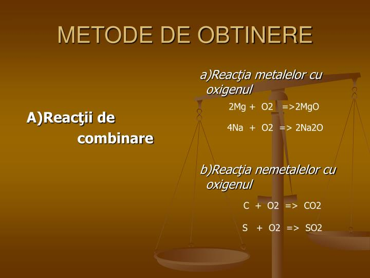 METODE DE OBTINERE