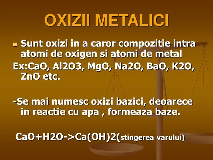 OXIZII METALICI
