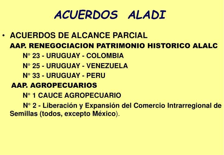 ACUERDOS  ALADI