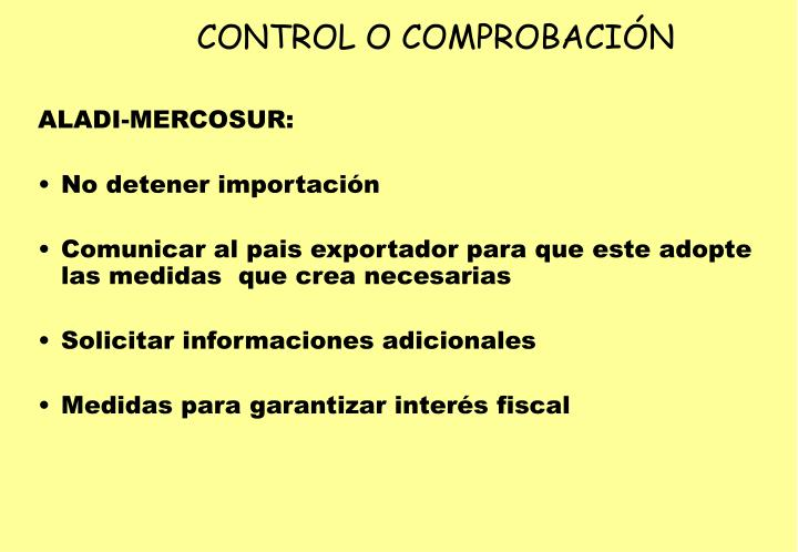 CONTROL O COMPROBACIÓN