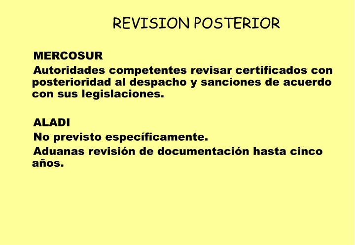REVISION POSTERIOR