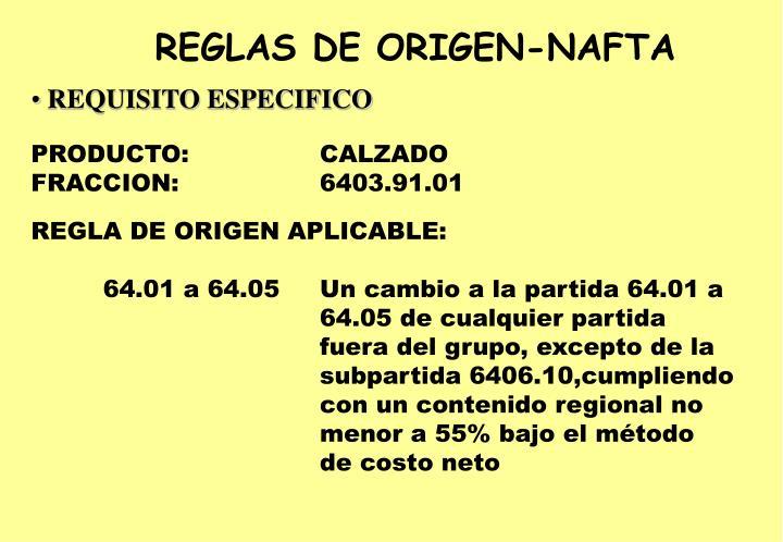 REGLAS DE ORIGEN-NAFTA