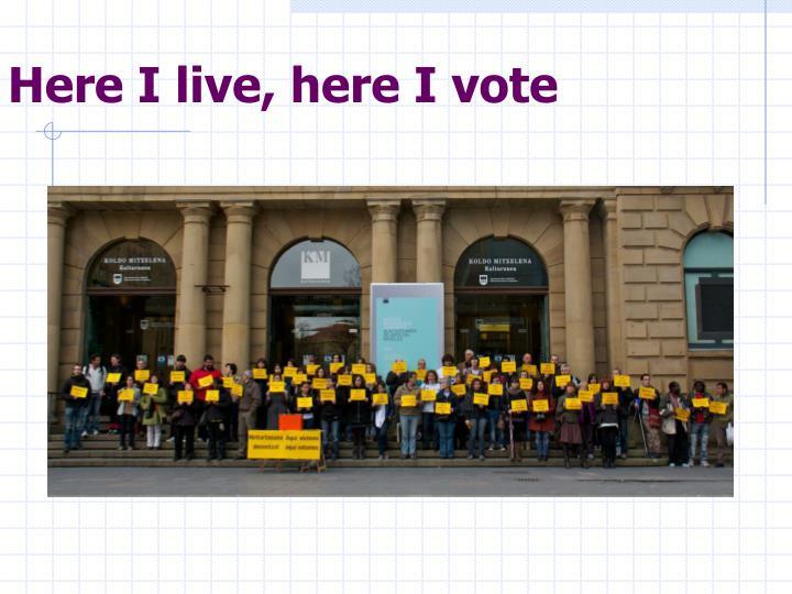 Here I live, here I vote