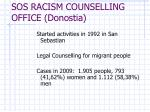 sos racism counselling office donostia