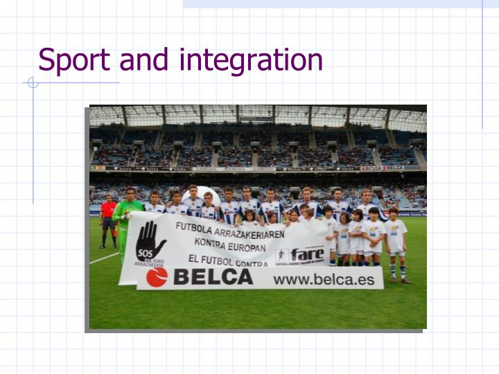 Sport and integration
