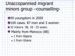 unaccopannied migrant minors group counselling