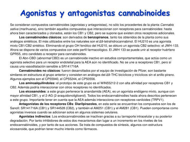 Agonistas y antagonistas cannabinoides
