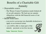 benefits of a charitable gift annuity3