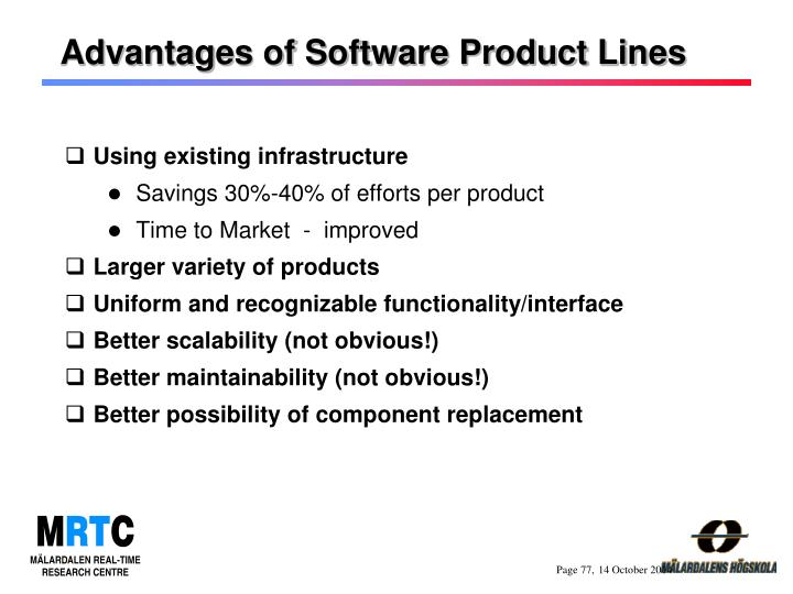 Advantages of Software Product Lines