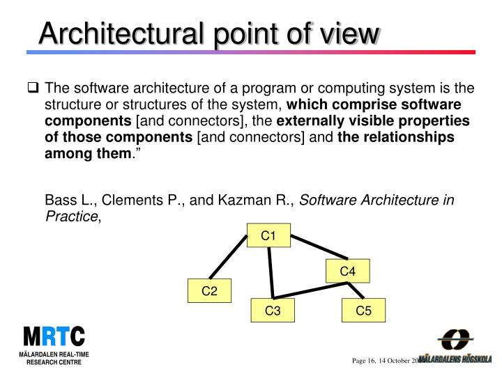 Architectural point of view