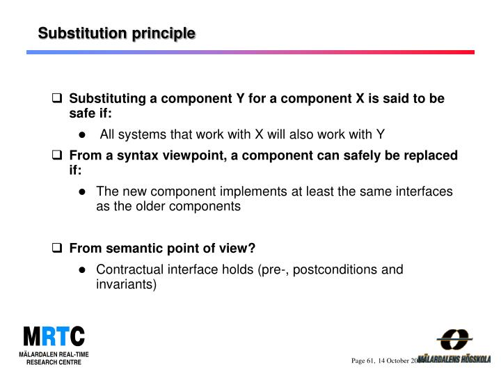 Substitution principle