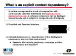 what is an explicit context dependency