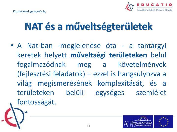 NAT és a műveltségterületek